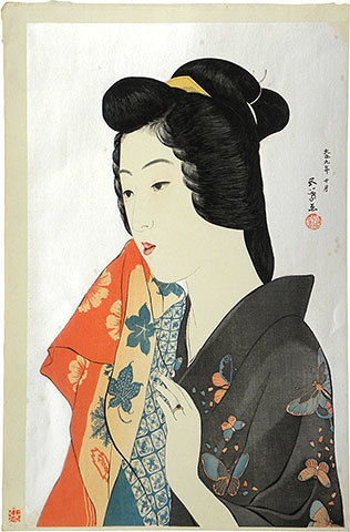 Goyo Hashiguchi, 'Woman with Hand Towel', ca. 1921, Scholten Japanese Art