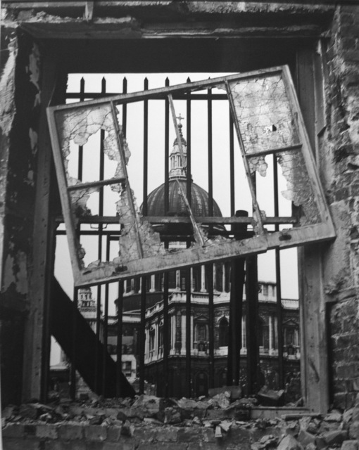 , 'London, St. Paul's, (through broken window),' 1942, Peter Fetterman Gallery