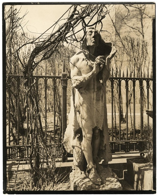 , 'St. Mark's Church Statue in Courtyard. East 10th Street and Second Avenue, Manhattan.,' 1937, The Old Print Shop, Inc.
