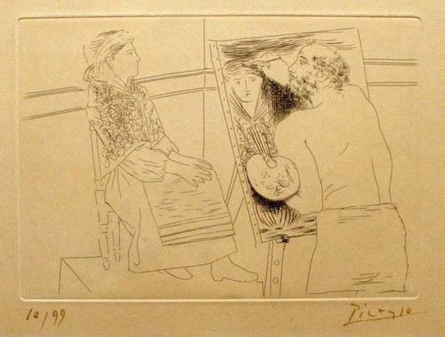 Pablo Picasso, 'Peintre Chauve devant son Chevalet', 1927, Wallector