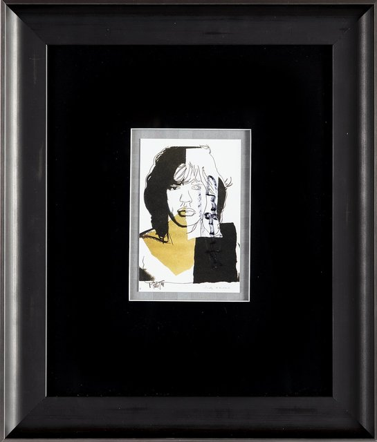 Andy Warhol, 'Andy Warhol  Mick Jagger FS.II.146 Hand Signed Gallery Announcement Invitation $2,895.00', 1970-2000, Drawing, Collage or other Work on Paper, Lithograph, Modern Artifact
