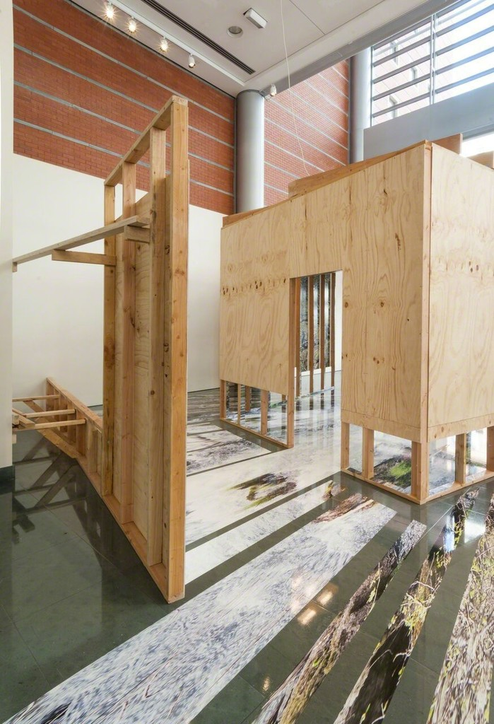 Chris Engman's Containment (2018) is a site-specific installation created as a part of FotoFocus Biennial 2018 exhibition Chris Engman: Prospect and Refuge at Alice F. and Harris K. Weston Art Gallery.  Photos by Tony Walsh