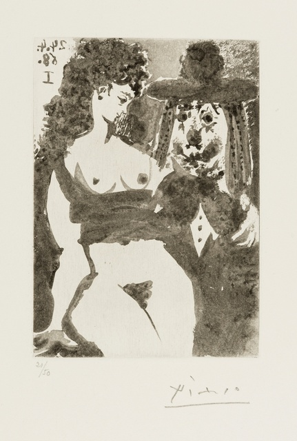 Pablo Picasso, '347 Series: Old Clown with Seductive Nude (Bloch 1529)', 1968, Forum Auctions