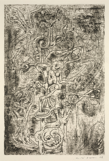 André Masson, 'Fruits of Abyss from Surrealist Portfolio VVV', 1942, Print, Etching and soft ground etching, Dallas Museum of Art