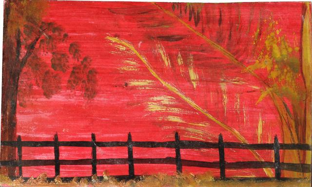 , 'Red Sky, Black Fence,' n.d., Hirschl & Adler