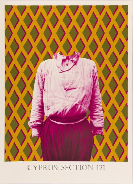 Matt Smith, 'Cyprus: Section 171', 2019, Print, Silkscreen Print on Handmade Indian Cotton Paper, Cynthia Corbett Gallery