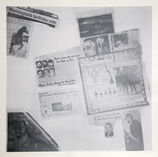 Robert Rauschenberg, 'Features from Currents #57', 1970, RoGallery