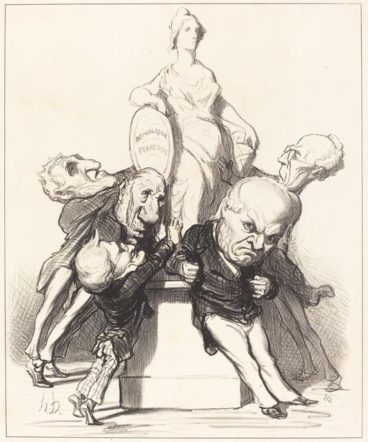 Honoré Daumier, 'Ils prétendent qu'ils la soutiennent', 1849, National Gallery of Art, Washington, D.C.