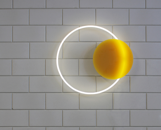 , 'Voie Lights Medium Hanging - Gold/ white neon,' 2016, Etage Projects