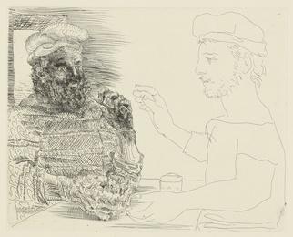 La Taberna. Jeune pêcheur catalan racontant sa vie à un vieux pêcheur barbu (B. 228; Ba. 442)