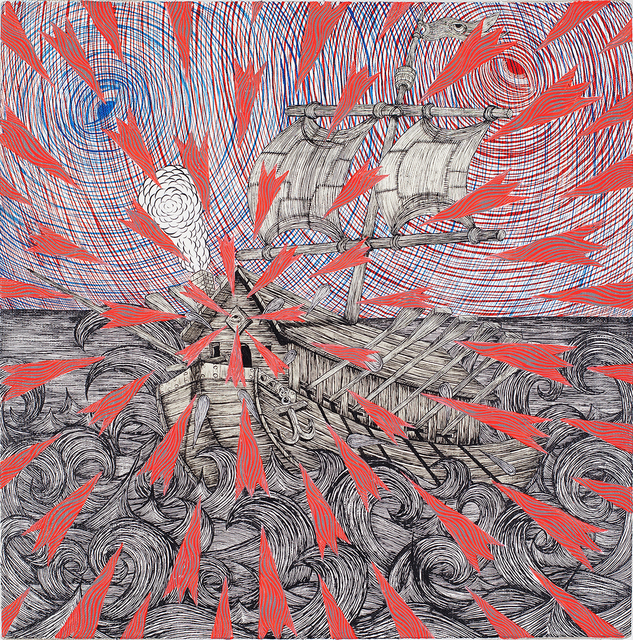 , 'Illuminati Slaveship (Explosion),' 2016, Joshua Liner Gallery