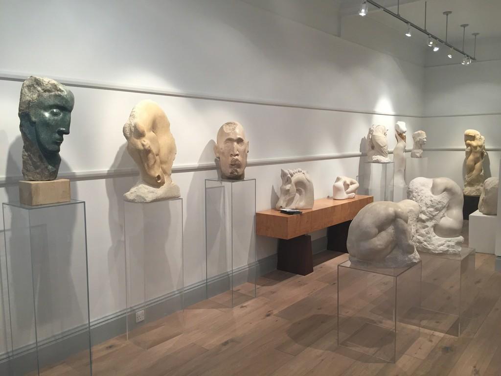 In situ sculptures by David Klein MRBS at Thackeray Gallery, London