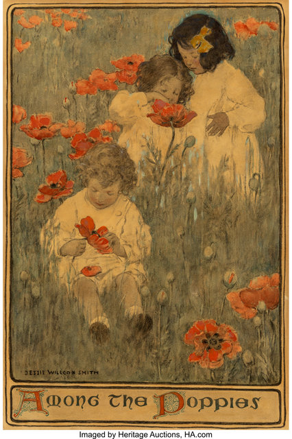 JESSIE WILLCOX SMITH, 'Among the Poppies, Scribner's Magazine interior illustration', 1903, Heritage Auctions