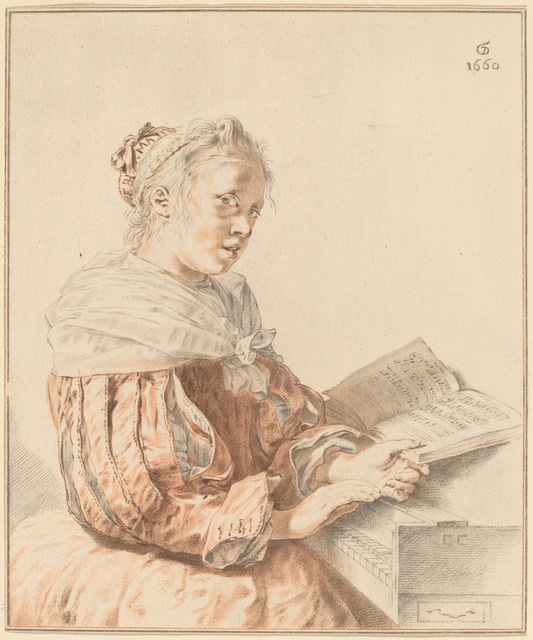 Cornelis Ploos van Amstel and Johannes Kornlein after Gerrit Dou, 'Young Girl at the Keyboard', 1767, National Gallery of Art, Washington, D.C.