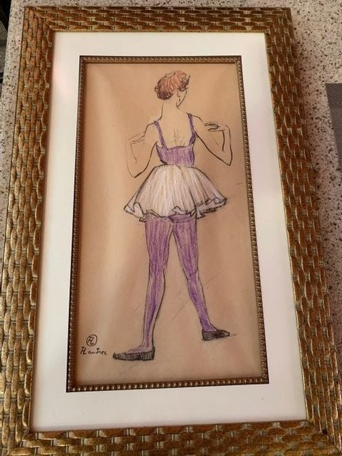 Henri de Toulouse-Lautrec, 'Ballerina Viewed From the Back', Unknown, Leviton Fine Art