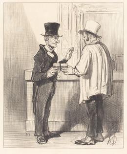 Honoré Daumier, 'Un Défenseur... causant... dans son cabinet habituel', 1846, National Gallery of Art, Washington, D.C.
