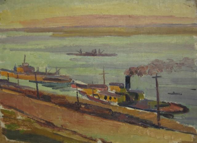 Anton Stanislavovich Yastrzhembsky, 'Voolga River near Pichore', 1927, Surikov Foundation