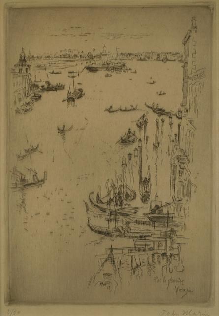 John Marin (1870-1953), 'Par la Fenetre, Venice', 1907, Private Collection, NY