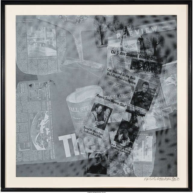 Robert Rauschenberg, 'Surface Series from Currents, The Pro', 1970, Print, Screenprint on wove paper, Heritage Auctions