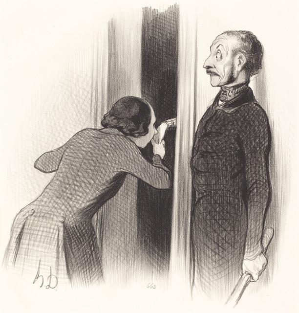 Honoré Daumier, 'Un Amant trop heureux', 1844, National Gallery of Art, Washington, D.C.