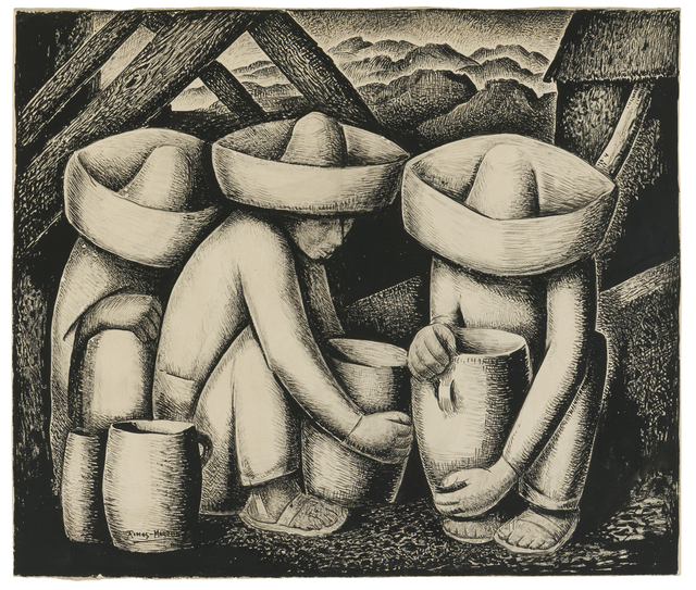 Alfredo Ramos Martínez, 'The Potters', John Moran Auctioneers