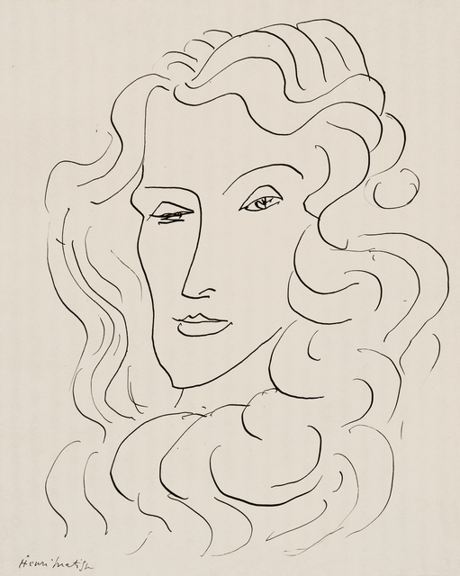 , 'Portrait de femme,' Executed in Nice in 1942, Hammer Galleries