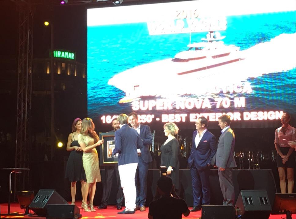Liubov Belousova (BOCCARA ART) reward Best Nova 70m Yacht for best exterior design 2016.