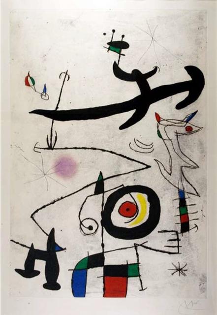 Joan Miró, 'Village D'Oiseaux', 1969, Mixed Media, Etching, aquatint and carborundum printed in colors, LaMantia Fine Art Inc.
