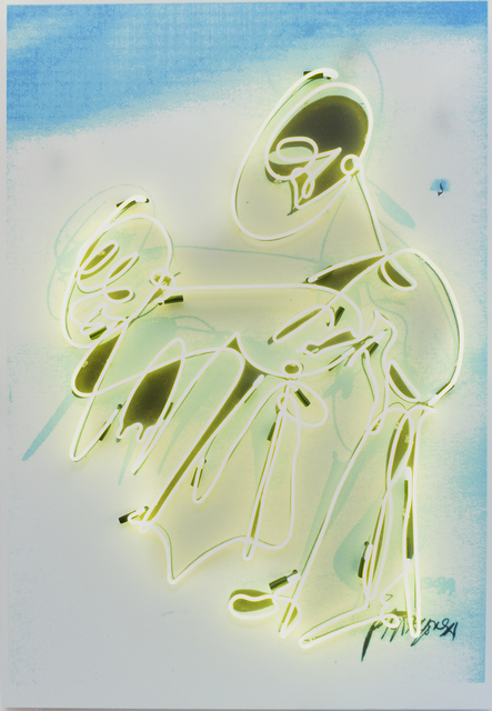 , 'Graffiti Neon (Yellow),' 2018, Richard Taittinger Gallery