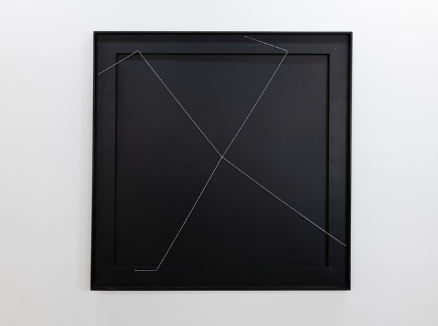Gianni Colombo, 'spazio elastico - quadrato', 1974, Sculpture, Wood, lacquered, rubber cord, steel nails, Edition & Galerie Hoffmann