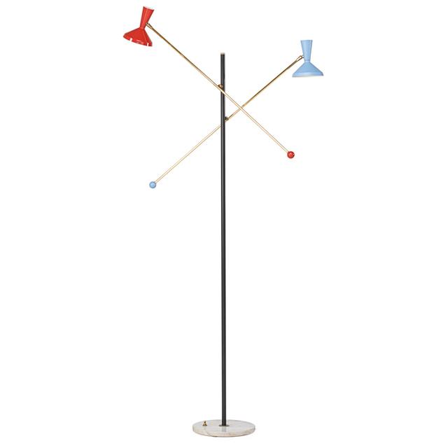 Stilnovo, 'Adjustable Floor Lamp, Italy', 1950s, Rago/Wright