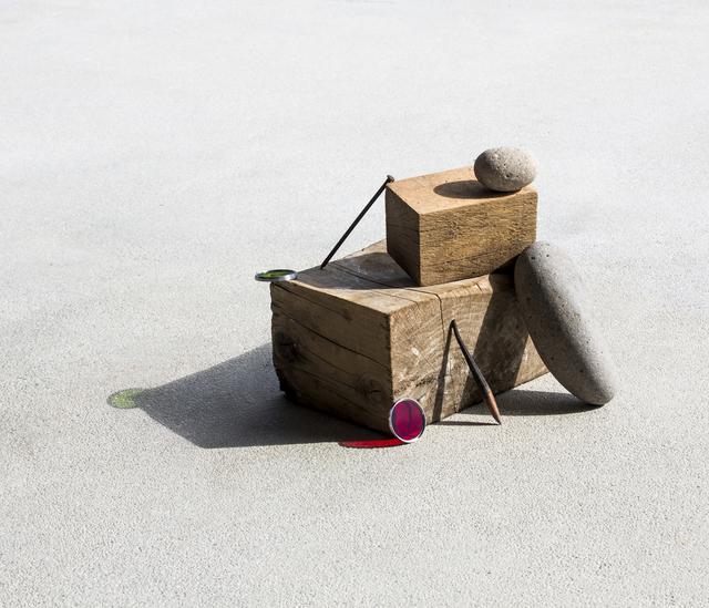 Ilán Rabchinskey, 'Stones, wood, metal, chromatic filters', 2017, Patricia Conde Galería