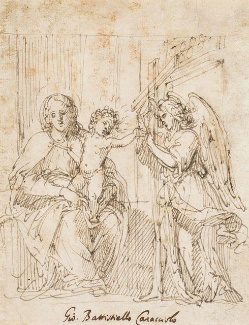 Giovanni Battista Caracciolo called Battistello, 'Virgin with Child and an angel carrying a cross', 1620-1630, Artur Ramon Art