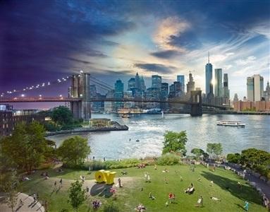 , 'Brooklyn Bridge, New York, Day to Night Series,' 2016, Tulla Booth Gallery