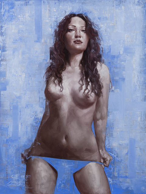 , 'Portrait of Stephie on Blue,' 2016, Rehs Contemporary Galleries