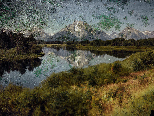 , 'Tent-Camera Image on Ground: View of Mount Moran and the Snake River From Oxbow Bend, Grand Teton National Park, Wyoming,' 2011, Edwynn Houk Gallery