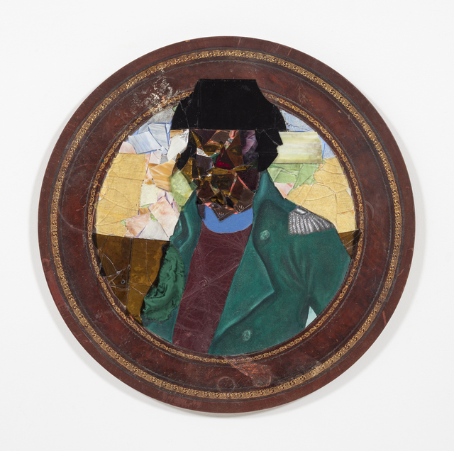 David Shrobe, 'Smoove Sailing', 2020, Painting, Oil, acrylic and ink on canvas, stained glass, tin, canvas, leather, silk and bookbinding cloth mounted on wood table top, Steve Turner