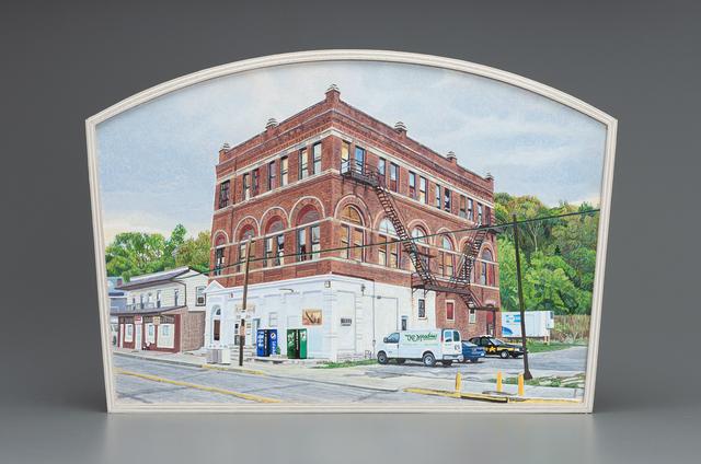 , 'Brick Building, Addyston, Ohio, US Highway 50,' 2018, Valley House Gallery & Sculpture Garden