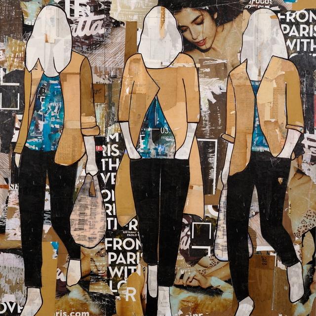 , 'Tan Jackets,' 2017, Lanoue Gallery