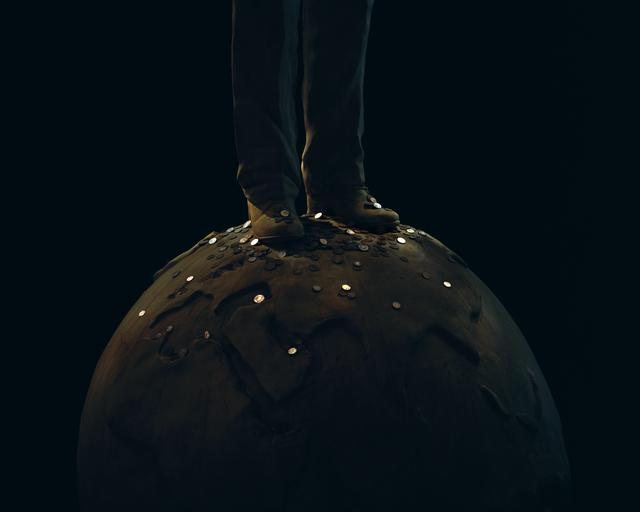 , 'Coins (Man on the Ball) / 硬币(球上的人),' 2016, Ota Fine Arts