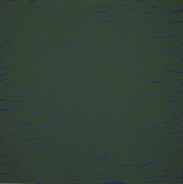 , 'Horizontal Bands (More or Less) Blue/Green,' 2002, Crown Point Press