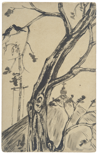 , 'UNTITLED	(Tree and Church),' 1946, Prinseps