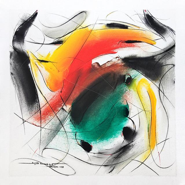 Sujth Kumar G.S. Mandya, 'Bull Painting - 688', 2018, MayinArt