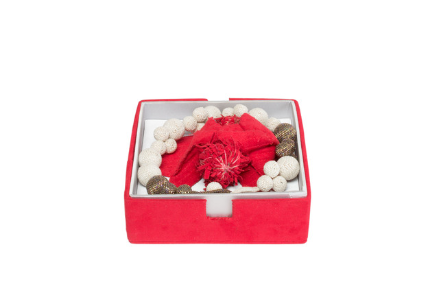 Steven and William Ladd, 'Volcano Beaded Ball Necklace and Box', 2007, Mingei International Museum