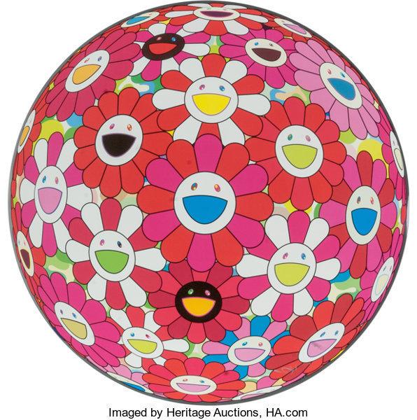 Takashi Murakami, 'Flowerball (3D) Papyrus', 2013, Print, Offset Lithograph, Vertu Fine Art