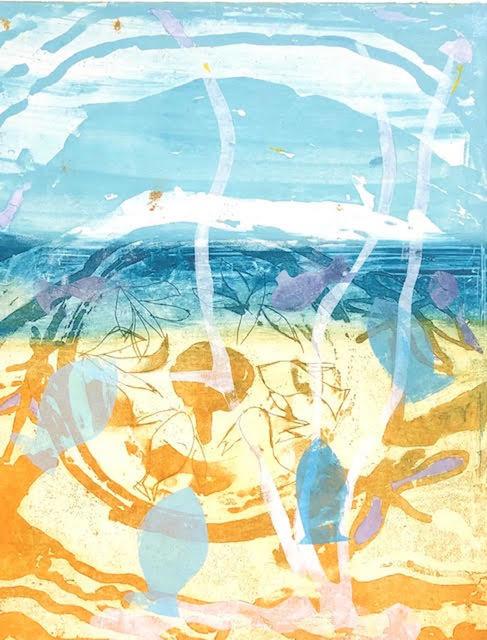 Jan Farrell, 'Beneath the Sea', 2021, Print, Aluminium plate, Charbonnel inks, BFK Rives paper, Open Bite Printmakers