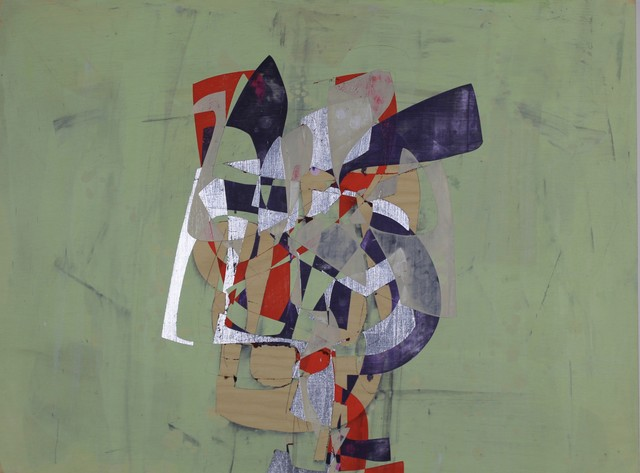 Jim Napierala, 'Dickie Trey', 2015, Painting, Flashe, aluminum leaf and acrylic on wood panel, Susan Eley Fine Art
