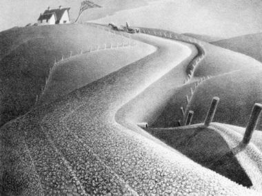Grant Wood, 'March', 1939, Kiechel Fine Art