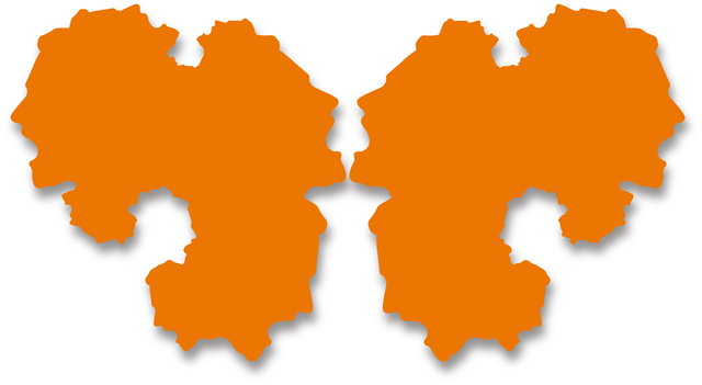 Paul Hosking, 'Rorschach Portrait (orange-2 parts)', 2012, Michael Fuchs Galerie