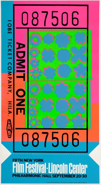 Andy Warhol, 'Lincoln Center Ticket', 1967, Koller Auctions